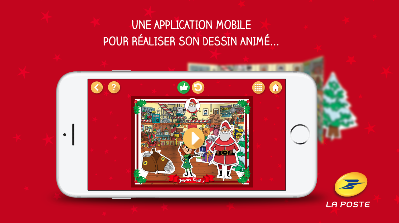 Application mobile la poste -  ma lettre au père noël