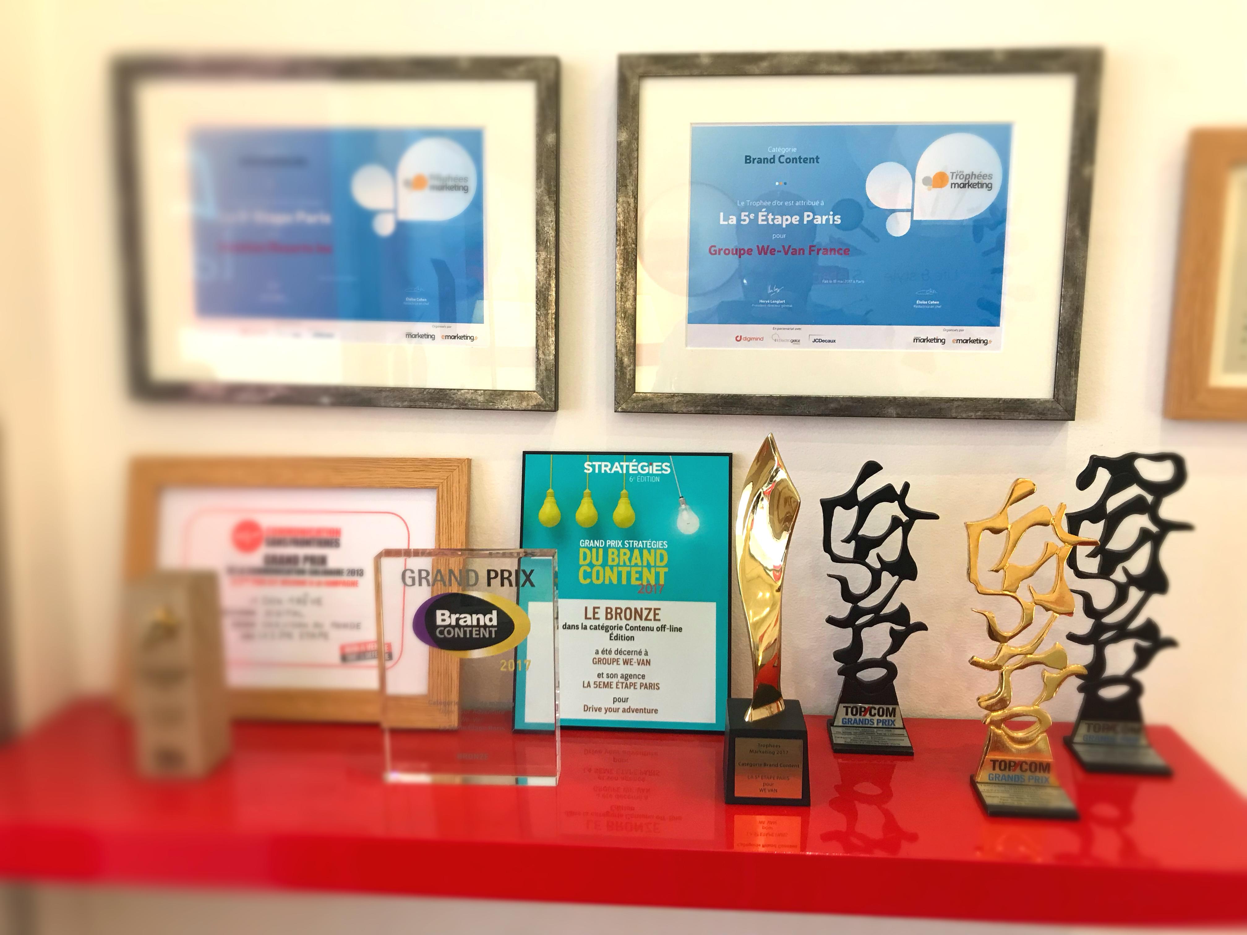 La 5ème Etape Paris trophées awards topcom stratégies trophées marketing