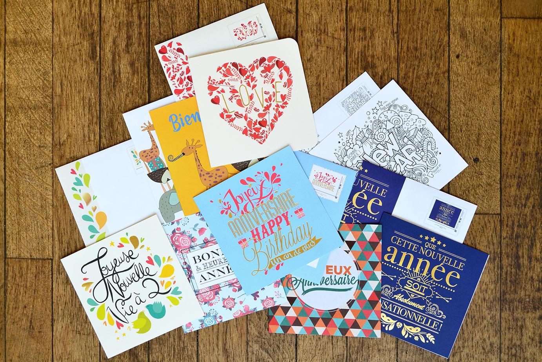 carterie  timbres la poste agence la 5ème étape