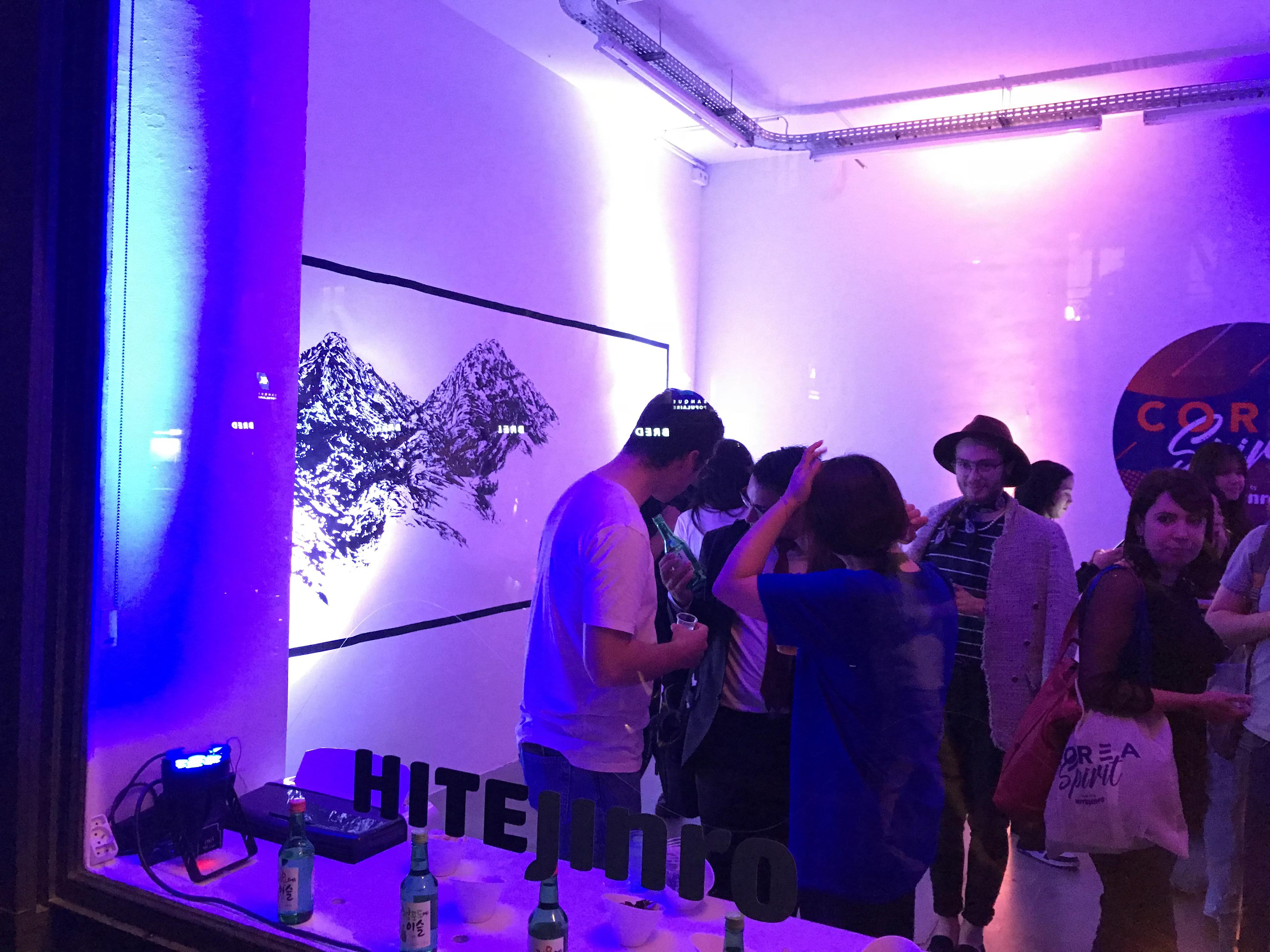 Popup store corée Hite Jinro Alcool Paris La 5ème étape Brand Content événementiel
