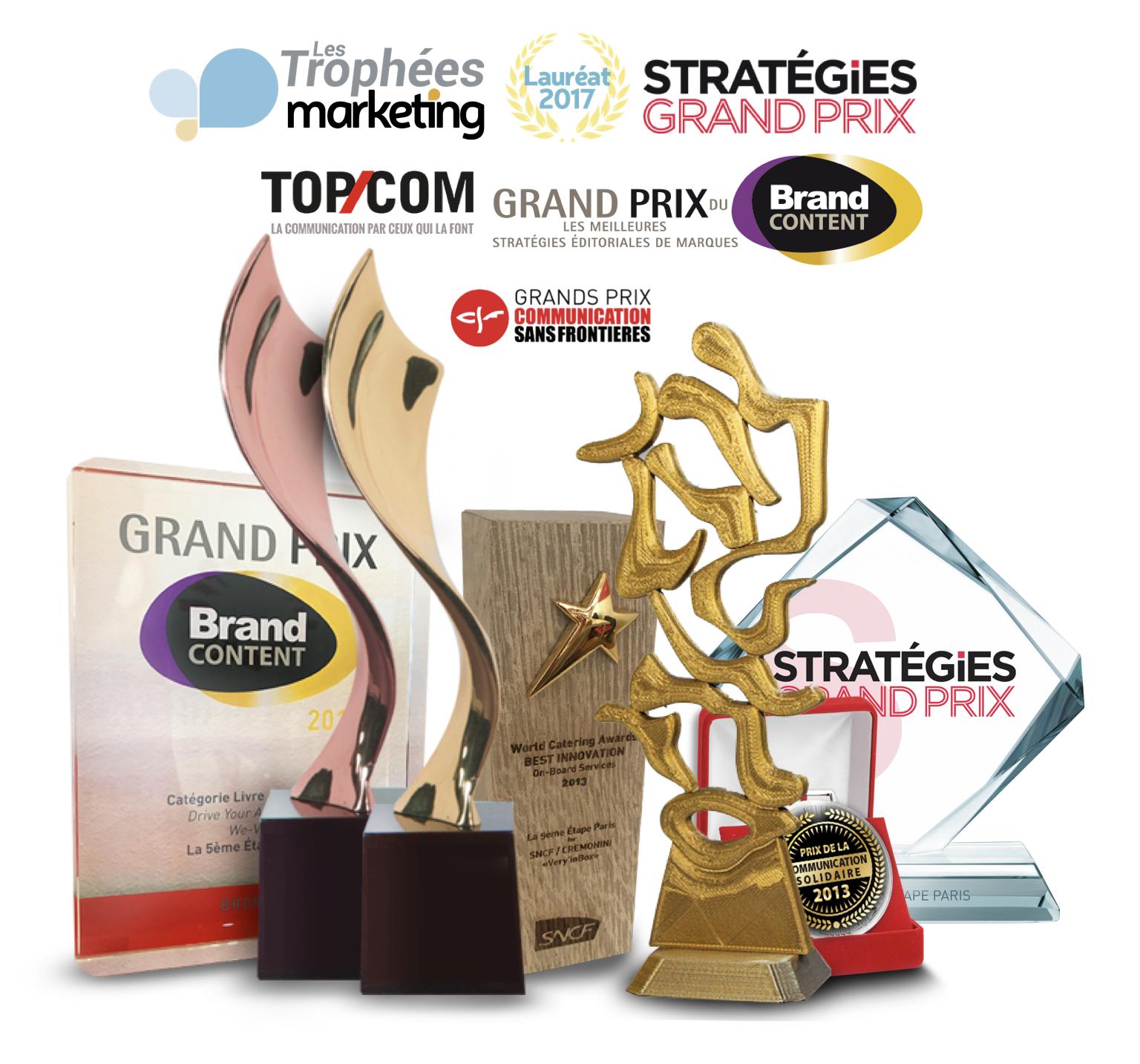 Lauréat Grand Prix du Brand Content Grand Prix stratégies Top Com Or Trophées du marketing Agence de communication